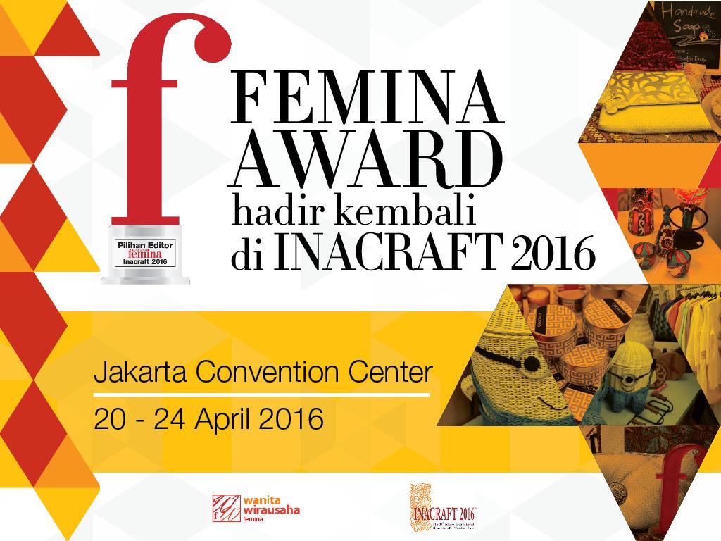 Femina Award Hadir Kembali di Inacraft 2016